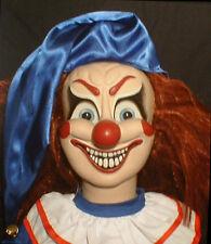 """HAUNTED Evil Clown doll """"EYES FOLLOW YOU"""" Creepy Halloween Poltergeist prop OOAK"""
