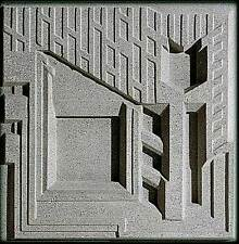"Frank Lloyd Wright FREEMAN HOUSE DESIGN TILE 16""sq Cast Concrete BLOCK Made USA"