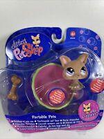 Hasbro Littlest Pet Shop #461 Fuzzy Flocked Chihuahua Dog LPS BNIB