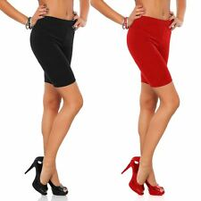 Womens 1/2 Length Cropped Cotton Shorts Ladies Yoga Sports Dance Gym Cycling