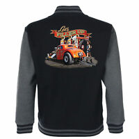 Hotrod 58 Drag Racing American Varsity Garage Jacket Classic Vintage Race Car