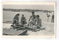 1970s family beach portrait people fashion Russian Vintage photo n