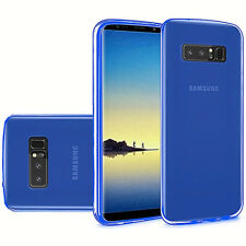 For Samsung Galaxy Note 8 Slim Flexible Transparent Candy TPU Cover Case