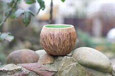 Handmade Rustic Round Succulent planter Ceramic pot for cactus Living room Decor