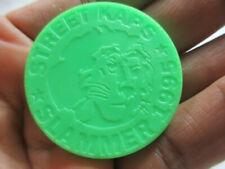 vintage 1995 lime green plastic pog Street Kaps Slammer lion head token toy