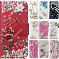 Cover For ZTE Case With Diamond Bling Flip Leather Wallet Cases Cover Phone Skin