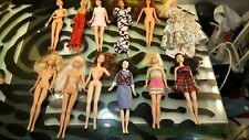 Barbie Dolls Lot of 12 with Funky Clothes Good Condition