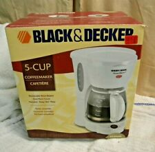 Black &  Decker  SMARTBREW  5 Cup Coffee Maker  - EASY CLEANING & USE ( WHITE )