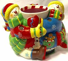 PartyLite Peppermint Pals Aroma Melts Warmer P8685 Bundled W/ 7 Cnt. Aroma Melts
