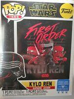 Funko Pop Star Wars Kylo Ren & XL T-Shirt Target Exclusive GITD 308