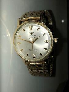 Wittnauer Geneve Automatic 10k Gold Plated Steel 35mm Vintage Watch