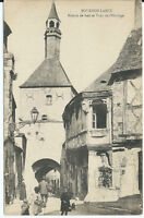 CPA -71 - BOURBON-LANCY - Maison de bois et Tour de l'Horloge