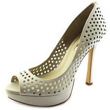 Zapatos de tacón de mujer de color principal blanco de piel