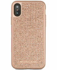 Michael Kors phone Case For Apple iPhone X Fitted Case/Skin ROSE GOLD RHINESTONE