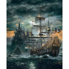 Pirate Ship 5D DIY Round Diamond Painting Embroidery Cross Stitch Home Decor
