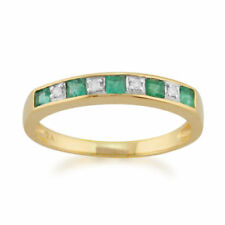Gold Not Enhanced Emerald Fine Rings
