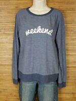 Womens Grayson Threads Blue Weekend Sweatshirt Size Medium M