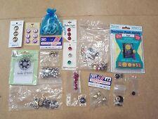 Amaco Sun designer plush molds & assorted buttons, bells, etc, craft supplies