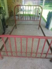 vintage iron twin bed frame