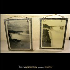 2 Antique 1890-1910 Photographs on Glass / Sun Catchers Niagara Falls Scenes