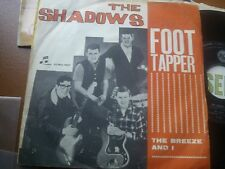 """7""""  THE SHADOWS FOOT TAPPER THE BREEZE AND I ITALY 1962 EX"""