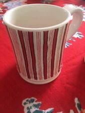 William Sonoma 2012 Set A Two Peppermint Stripe Mugs