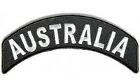 AUSTRALIA  SMALL ROCKER PATCH SEW OR IRON ON EMBROIDERED  CLOTH BIKER PATCH