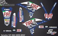 YZF 250 2013 MX motocross graphics decals kit 2011 2010 YZ250F stickers 2012 YZF
