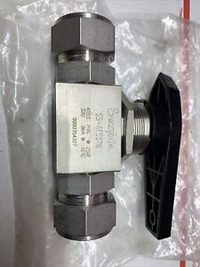 """New 1"""" Swagelok SS-AFSS16 High Pressure Ball Valve Tube Fitting"""