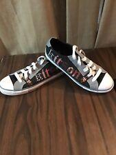 Kitson LA Black n Gray Tennis Shoes Womens Size 8.5 8 1/2