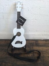 Makala Pearl White Soprano Dolphin Ukulele Fitted With Aquila Strings + BLACK CA