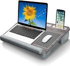 """Gimars Home Office Lap Desk Fits up to 17"""" Laptop, Mouse Pad Tablet/Phone Holder"""