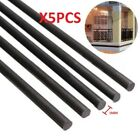 5pcs 1mm Diameter x 500mm Carbon Fiber Rods For RC Airplane High Quality Pole ~