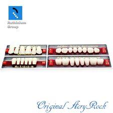 4pcs Set Acrylic Dental Lab Teeth Ruthinium Acryrock Teeth A1 Size 65 Full Mouth