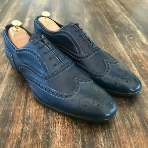 Paul Smith Oxford Brogue Navy Shoes Men's UK 9
