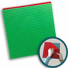 "Peel-and-Stick LEGO®-Compatible Baseplates  -  10"" x 10"" (1 Pack)- Green"