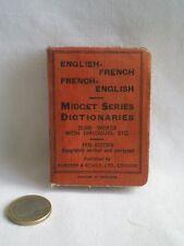 ANCIEN DICTIONNAIRE MINIATURE FRANÇAIS ANGLAIS 1936