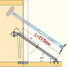 Pair of Folding flap/door stays hinge lift down cabinet zinc plated steel