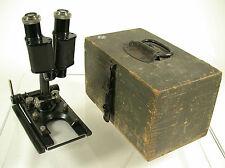 LEICA Leitz WW I military field microscope Jalicht LDM 10x Okulare 3,5x 7x rare