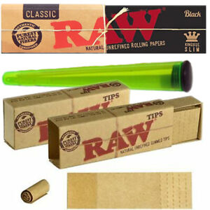 Raw Perforated Gummed Tips Filters Roach Natural Smoking Rolling Tobacco VEGAN