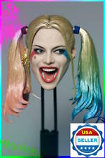 1/6 Harley Quinn Head Sculpt Suicide Squad For Hot Toys Phicen ❶USA IN STOCK❶