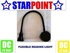 12v LED READING LIGHT BOOK LAMP BLACK ALLOY 12v 24v CARAVAN MOTORHOME BOAT