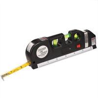 Multifunction Level Laser Horizon Vertical Measure Tape Metric Ruler Tool 8Ft