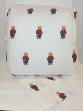 Ralph Lauren Polo Teddy Bear Boy 2P Twin Comforter & Sham Set New