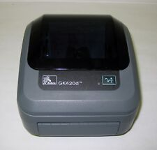 Gk420D Zebra  USB/Ser Monochrome Desktop Thermal Label Printer With 250 Labels