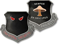 USAF Special Projects Challenge Coin Covert Mushroom US Air Force Intelligence