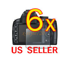 6x Nikon D3000 DSLR Camera Clear LCD Screen Protector Guard Cover Film