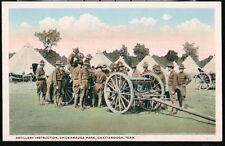 CHATTANOOGA TN Chickamauga Park Military Artillery Instruction Vtg Postcard Old