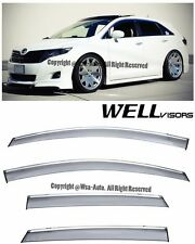 For 08-15 Toyota Venza WellVisors Side Window Visors Premium Series Rain Guard