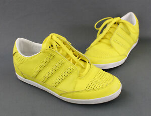 Y-3 Yohji Yamamoto Adidas Men's Bright Yellow Leather Lace Up Sneakers Shoes 6